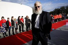 Spotted on the red carpet: David Letterman arrived at the John F. Kennedy Presidential Library & Museum to watch former president Barack Obama receive this year's Profiles in Courage award | The Boston Globe