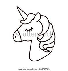 Unicorn vector Horse head sleep Colored book Black and white sticker icon is New Ideas Unicorn vector Horse head sleep Colored book Black and white sticker icon is New Ideas Sosyal hastybessite zeichnungen black nbsp hellip Unicorn Head, Unicorn Art, Cute Unicorn, Unicorn Emoji, Unicorn Fantasy, Unicorn Stickers, Unicorn Crafts, Unicorn Coloring Pages, Cute Coloring Pages