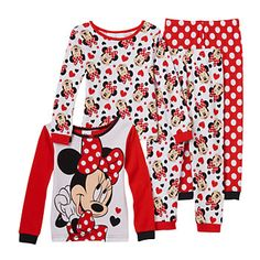Featuring a Minnie Mouse graphic and all-over print, your little Disney fan will love to lounge in this girls' tee and pants pajama set. Little Girl Outfits, Toddler Girl Outfits, Kids Outfits, Cute Outfits, Baby Outfits, Toddler Girls, Minnie Mouse Baby Room, Minnie Mouse Bedding, Cute Toddlers