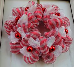 Christmas Mesh Wreath Holiday Wreath Holiday by SparkleWithStyle Decoration Christmas, Christmas Mesh Wreaths, Winter Wreaths, Wreath Crafts, Diy Wreath, Wreath Making, Wreath Ideas, Christmas Projects, Holiday Crafts