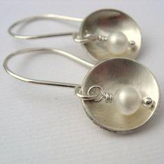 Handmade Sterling Silver and Pearl Earrings