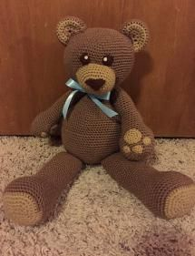 10 FREE Teddy Bear Crochet Patterns: Dawson The Teddy Bear Free Crochet Pattern