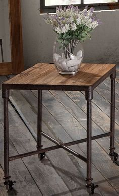 Beautiful Altra End Table with Metal Frame