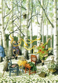 In a small village in Finland lives the world-famous artist-illustrator Inge Löök. Inge Look - pseudonym of the artist, real name Ingeborg Lievonen. Old Lady Humor, Look Older, Norman Rockwell, Whimsical Art, Old Women, Old Ladies, Illustrators, Folk Art, Illustration Art