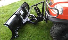 """UTV Plow With Power Lift & Angle [11240 UTV Snow Plow]  $1,999.99                     72"""" UTV Snow Plow   Power Angle and Electric Lift  Mounts to a Standard 2"""" Reciever        Extreme Metal Products new Heavy Duty UTV Plow."""