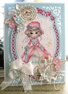 @Heather Valentin: Plain and Fancy Papercrafts: Lacy Sunshine Stamps, Sweet Victorian Lizabeth