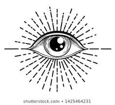 Immagine vettoriale stock 1425464231 a tema Blackwork Tattoo Flash Eye Providence Masonic (royalty free) Third Eye Tattoos, All Seeing Eye Tattoo, 3rd Eye Tattoo, Eyebrow Tattoo, Flash Art Tattoos, Black Tattoos, Small Tattoos, Black Lotus Tattoo, Mini Tattoos