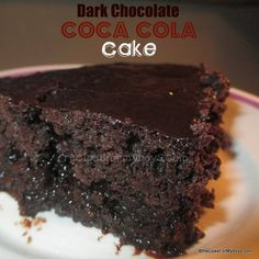Dark Chocolate Coca Cola Cake with Coca Cola Icing ~ Moist, Gooey and Decadent!