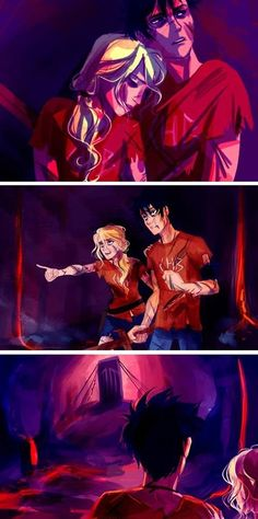 """Percabeth.....in Tarturus>>> Skillet - Awake - Full Album (Deluxe Edition) - HQ Sound (38:00) got to that time omg its a good song for this picture """"now thats its over... i just wanna hold her..."""" one of the lines. i dont know that song name tho..."""