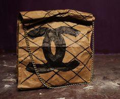 CHANEL BAG - Adorable paper bag idea.. Very Nyc... Love.