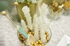 Mint & Gold Party + Rock Candy