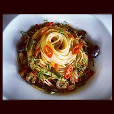 Spaghettoni alla Putanesca - today's special #pasta @acquaatpeckslip