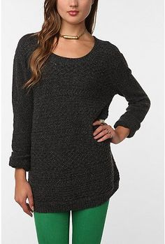 Oversized sweaters and tights...perfect.