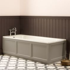 Wooden Bath Panel, Tiled Bath Panel, Wood Panel Bathroom, Bathroom Paneling, Bathroom Furniture, Wood Paneling, Timber Panelling, White Bath Panel, Bathroom Vinyl