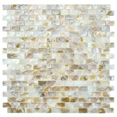 EliteTile Shore Random Sized Seashell Textured Rectangular Mosaic in Natural & Reviews   Wayfair