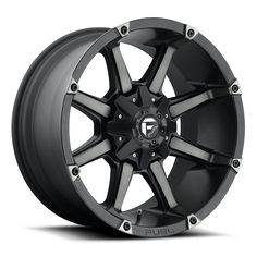 FUEL OFF-ROAD WHEELS 1 PIECE Coupler - Black & Machined with Dark Tint Wheels. Check if this wheel fits your vehicle or select any of the available size, bolt pattern and offset options. Rims And Tires, Wheels And Tires, Car Wheels, Truck Rims, Off Road Wheels, Wheel And Tire Packages, Black Wheels, Jeep Wrangler Jk, Custom Wheels