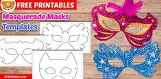 Free Mardi Gras Mask Templates for Kids Mardi Gras Mask Template, Masquerade Mask Template, Lace Masquerade Masks, Free Activities For Kids, Learning Games For Kids, Christmas Activities For Kids, Free Preschool, Preschool Learning, Bees For Kids