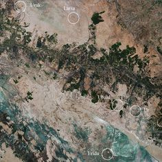 Five ancient Mesopotamian cities from space