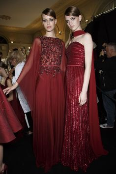 Paris Haute Couture Fashion Week, Fall/Winter 2013-14 Elie Saab - July 03rd, 2013 Backstage stylebistro.com