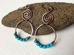 A personal favorite from my Etsy shop https://www.etsy.com/listing/277572472/copper-boho-earrings