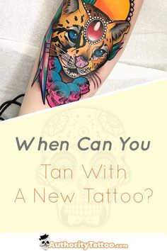 Exposing your new tattoo to the sun can have disastrous effects. Read our top tips to keep your tattoo looking perfect, even when tanning in the sun. Sun Tattoos, Body Art Tattoos, Tattoo Aftercare, Tips, Hacks