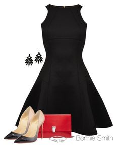 """Skater Dress"" by bonnaroosky ❤ liked on Polyvore featuring Ted Baker, Christian Louboutin, Proenza Schouler, Roberto Cavalli and Bling Jewelry"