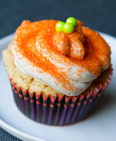 Pecan Pumpkin Cupcakes with Vanilla Cream Cheese Frosting...all vegan