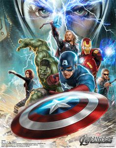 3D animated Avengers poster