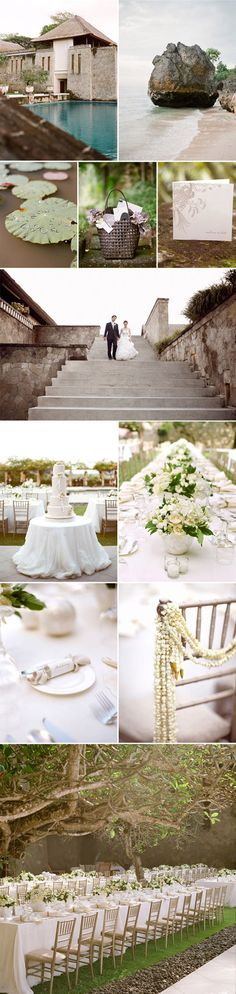 Romantic French-inspired Bali destination wedding from Lisa Vorce of Oh How Charming! Photographed by Aaron Delesie via JunebugWeddings.com.