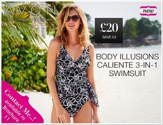 Enjoy your holidays on the beach with this swimsuit. Order online at www.avon.uk.com/store/beautyofthemoon