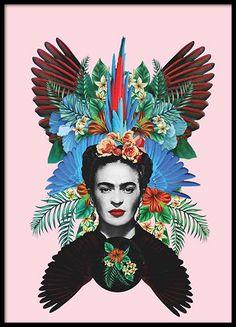 Frida Kahlo Julisteet ryhmässä Julisteet  / Piirrokset @ Desenio AB (2371)