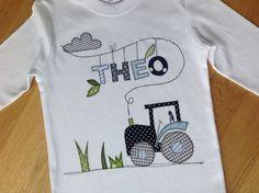 """Langarmshirts - Langarmshirt """"Traktorfahrt"""" - ein Designerstück von tinybutton bei DaWanda"""