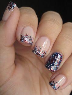 clean glitters nails www.wigsbuy.com