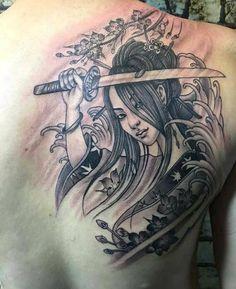 Good Hannya Mask Tattoo, Demon Tattoo, Samurai Tattoo, Buddha Tattoos, Body Art Tattoos, Girl Tattoos, Tattoos For Guys, Geisha Tattoo For Men, Geisha Tattoo Design