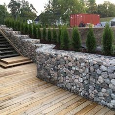 Natural & Modern Outdoor Gabion Ideas - Unique Balcony & Garden Decoration and Easy DIY Ideas