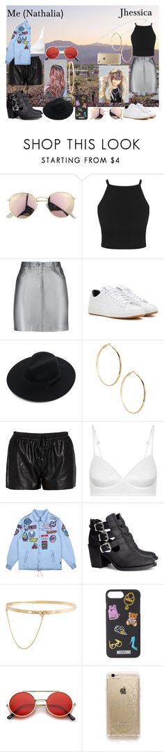 """""""Coachella w/ Jhessica"""" by wifeofniall17 ❤ liked on Polyvore featuring Pierre Balmain, NIKE, Chicwish, GUESS by Marciano, Morgan, H&M, Eddie Borgo, Moschino, ZeroUV and Rifle Paper Co"""