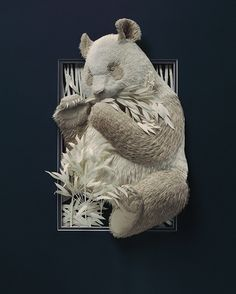 Paper Works of Calvin Nicholls, Paper Sculpture Artist Art Sculpture, Animal Sculptures, Paper Sculptures, Lart Du Papier, Nature Paper, Paper Animals, Paper Artwork, Paper Artist, Canadian Artists