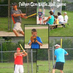 Baseball Wiffle Ball game