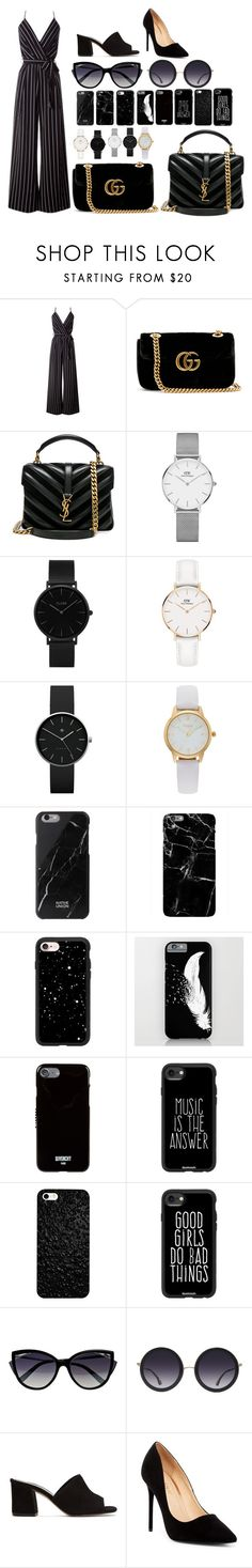 """""""summer part6"""" by annj-notoy on Polyvore featuring Gucci, Yves Saint Laurent, Daniel Wellington, CLUSE, Newgate, Vivani, Native Union, Harper & Blake, Casetify and Givenchy"""