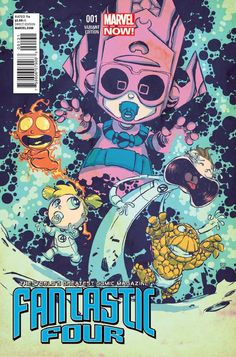 Fantastic Four #1 by Scottie Young (Babies Variant Cover) | Click For a review of this comic issue