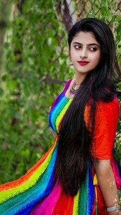 Cute Girl Image, Desi Girl Image, Girls Image, Cute Girl Poses, Cute Girls, Beautiful Long Hair, Beautiful Dresses, Long Indian Hair, French Knot Embroidery