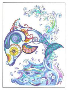 Whimsical Dolphin - Liz Aguilar