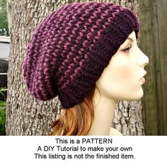 knit toque pattern – Knitting Tips Knit Or Crochet, Crochet Hats, Popular Hats, Quick Knits, Winter Hats For Women, Beanie Pattern, Knit Beanie, Slouchy Hat, Zombie Apocalypse