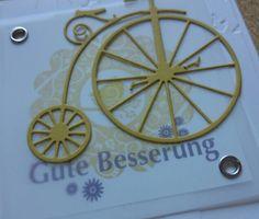Genesungskarte nach einem Fahrradsturz...die tolle Stanze dazu gibts bei Alexandra Renke-Flanderka