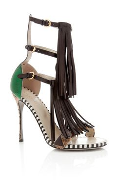 Tawaraya Double Tiered Sandal by Sergio Rossi Now Available on Moda Operandi