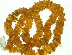 Amber Beads Natural amber Beads Heishi sliced style by BeaconBeads, $14.00