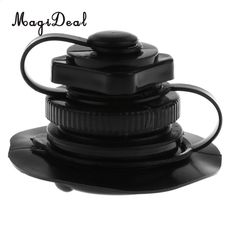 White Air Valve Caps with Base for Inflatable Kayak Fishing Boat Pool Raft