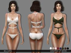 Sims 4 CC's - The Best: Wrapped Up Bikini by Bill Sims