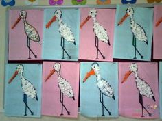 Stork craft idea for kids – Crafts and Worksheets for Preschool,Toddler and Kindergarten Nature Crafts, Fall Crafts, Diy And Crafts, Crafts For Kids, Daycare Crafts, Preschool Crafts, Art Montessori, Spring Art Projects, Kids Wood