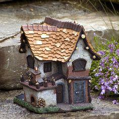 Crooked Creations Solar-Lit Tudor House